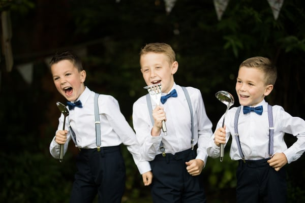 Page Boys singing at a house in Northamptonshire