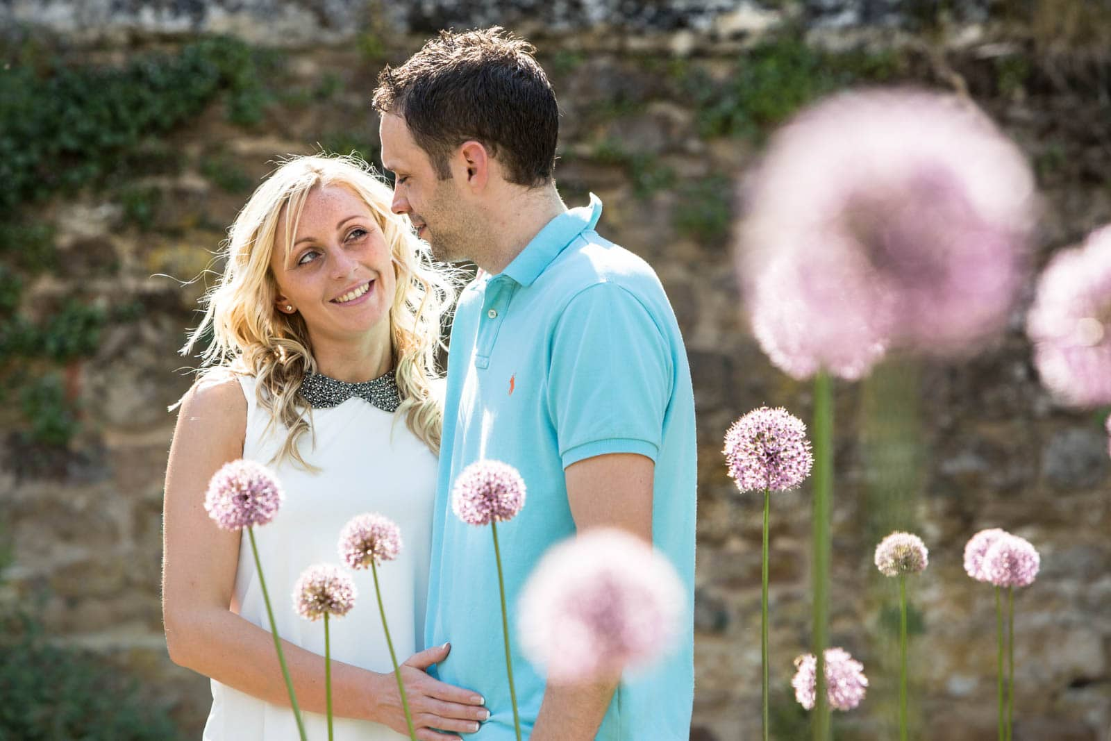 Engagement Shoot in the gardens at Delapre Abbey Northampton