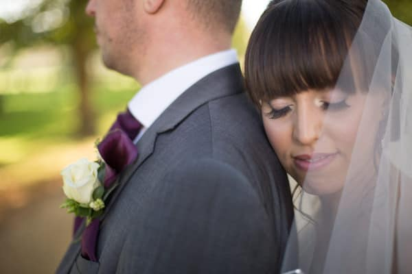 Beautiful close up photo of the bride at Chichely HAll near Milton Keynes