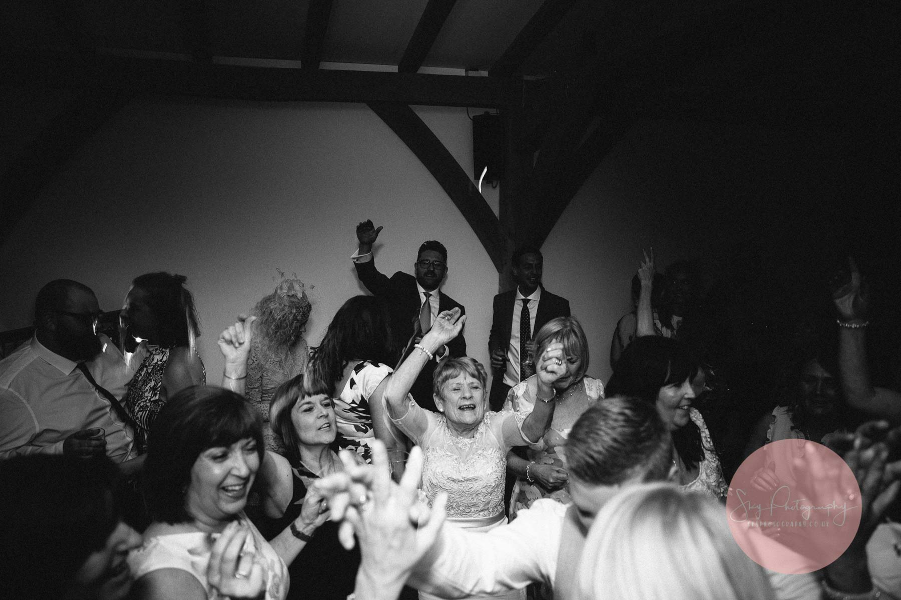 Grandma dancing the night away at Dodford Manor
