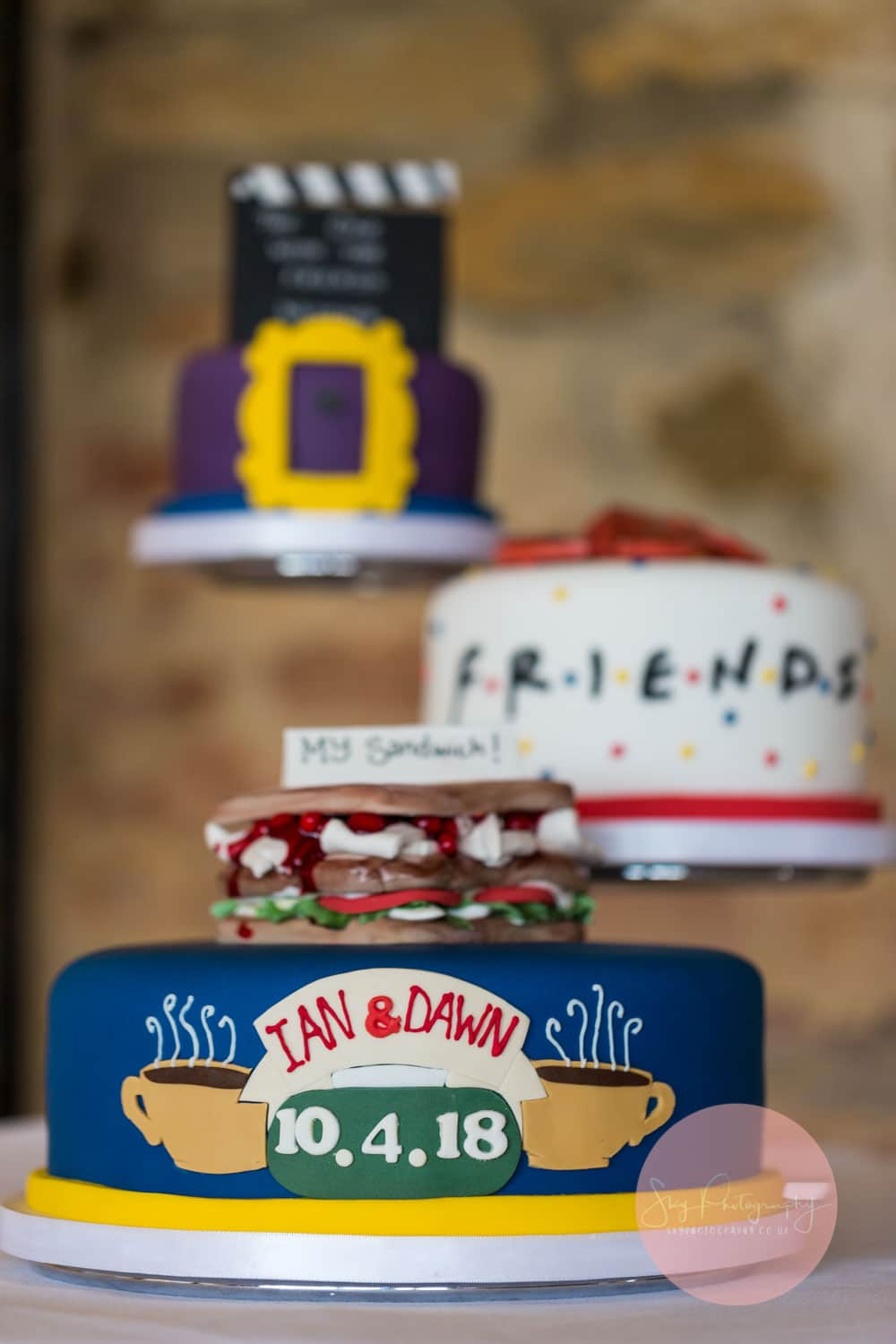 3 Friends Themed Wedding cake