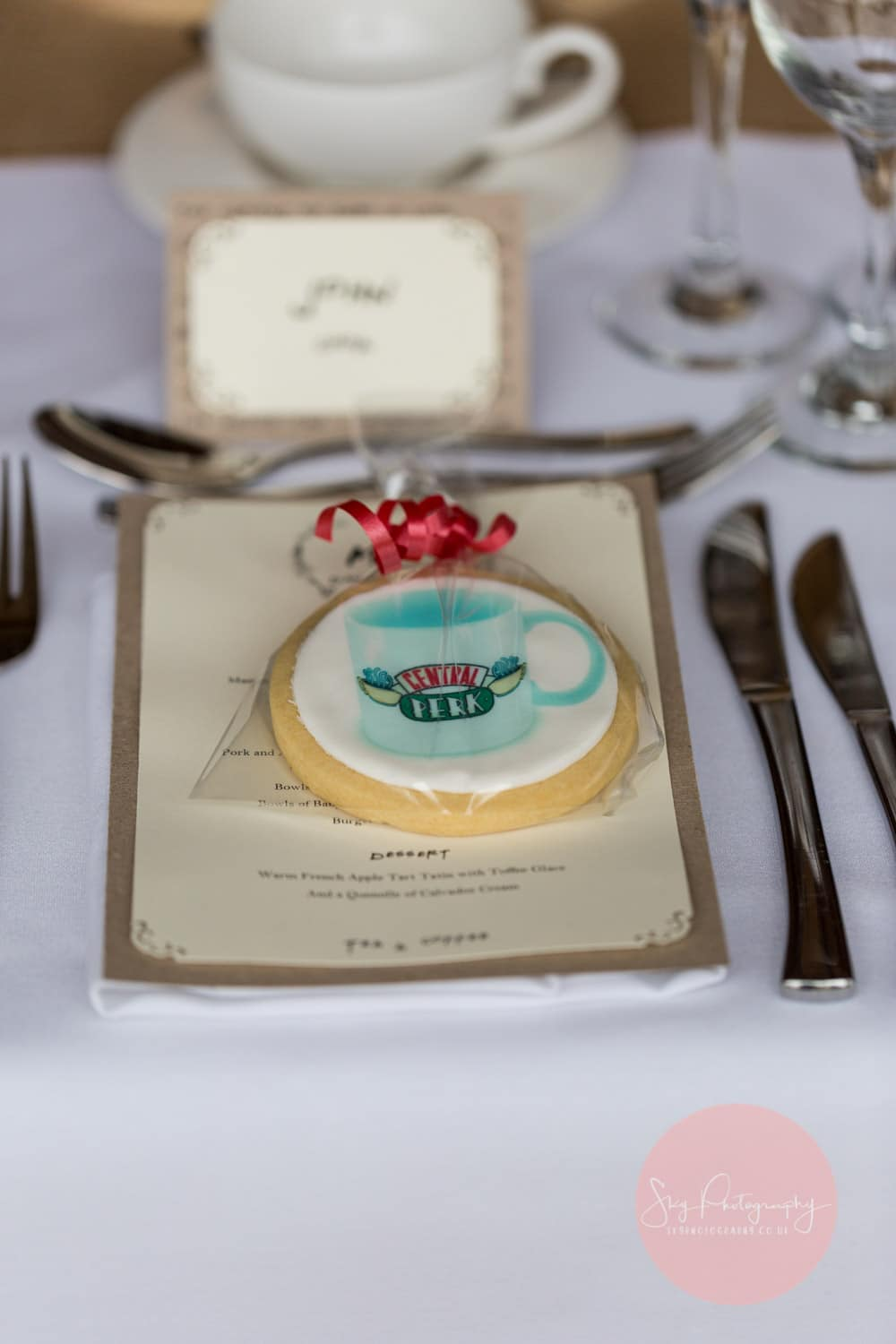 Friends Wedding Themed wedding favours