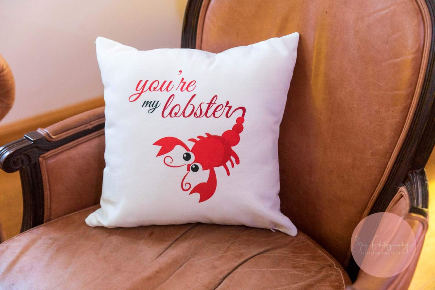 Friends Themed Wedding Cushion you're my lobster