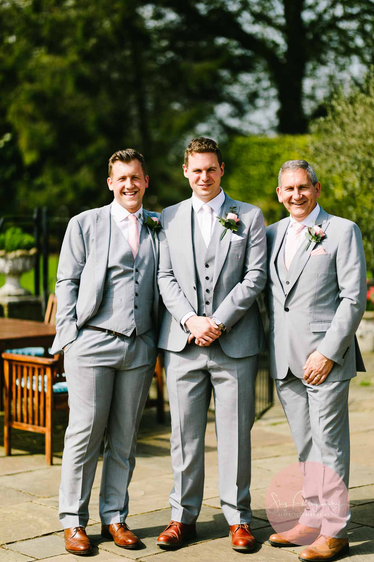 Groomsmen at Plum Park