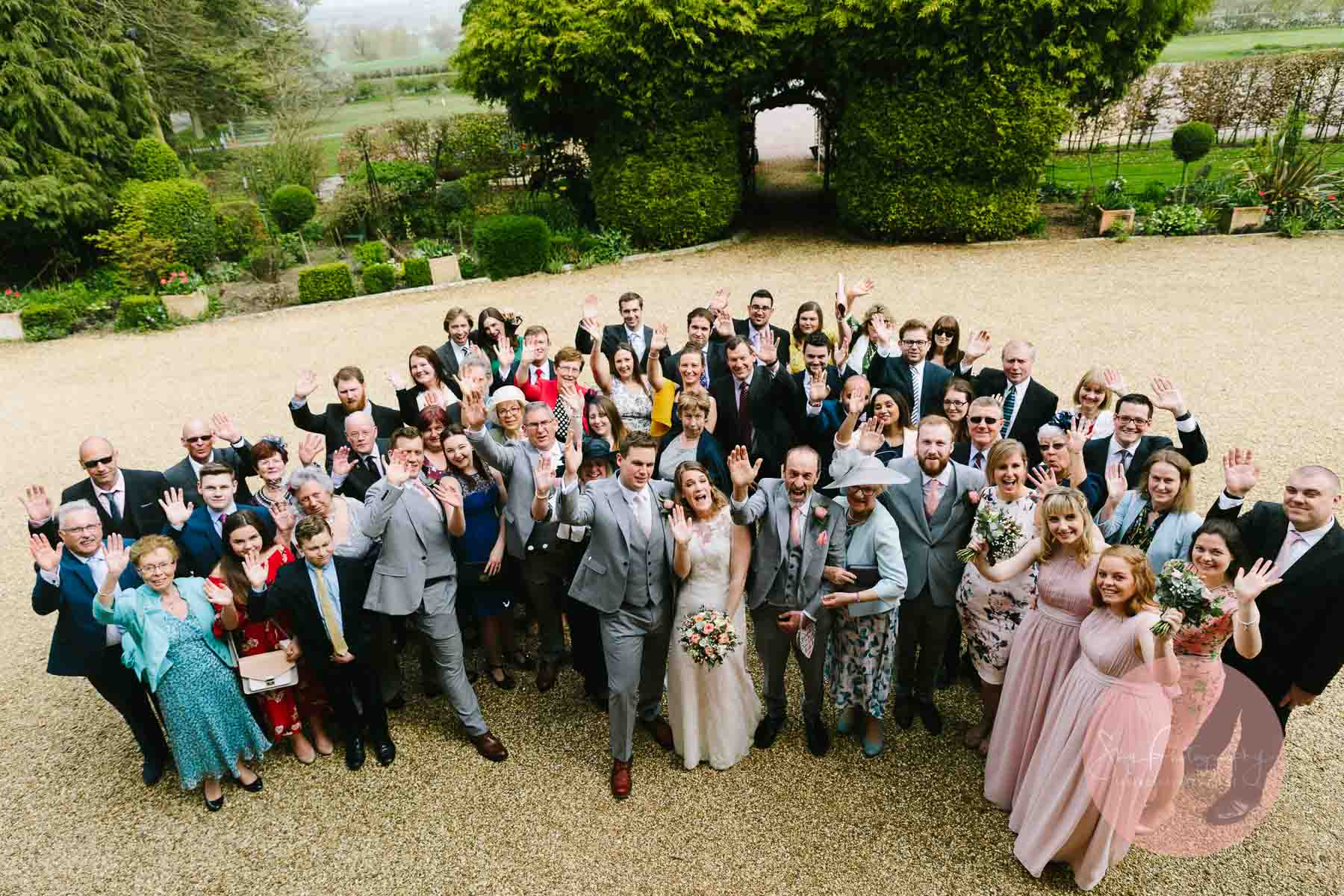 Wedding Group photo of all guests