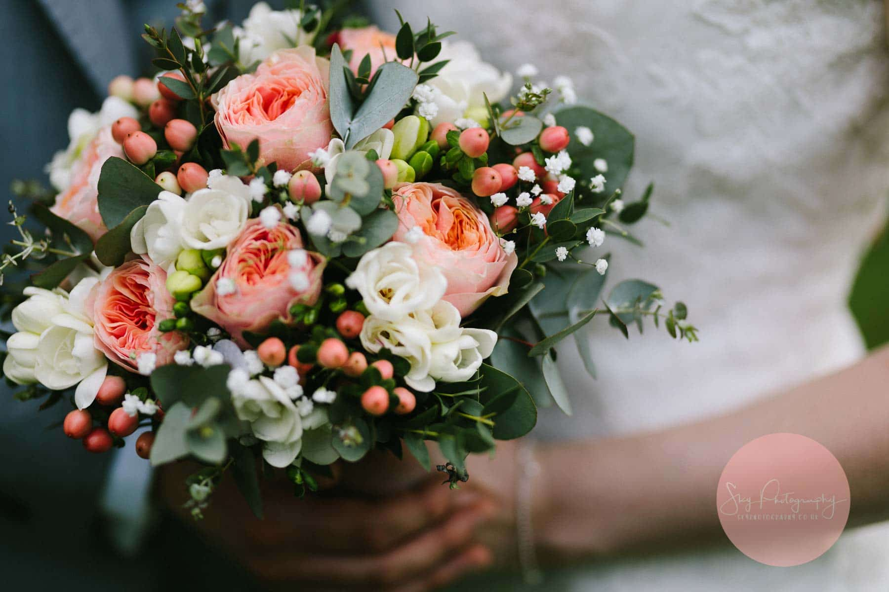 Beautiful Bouquet being held by bride
