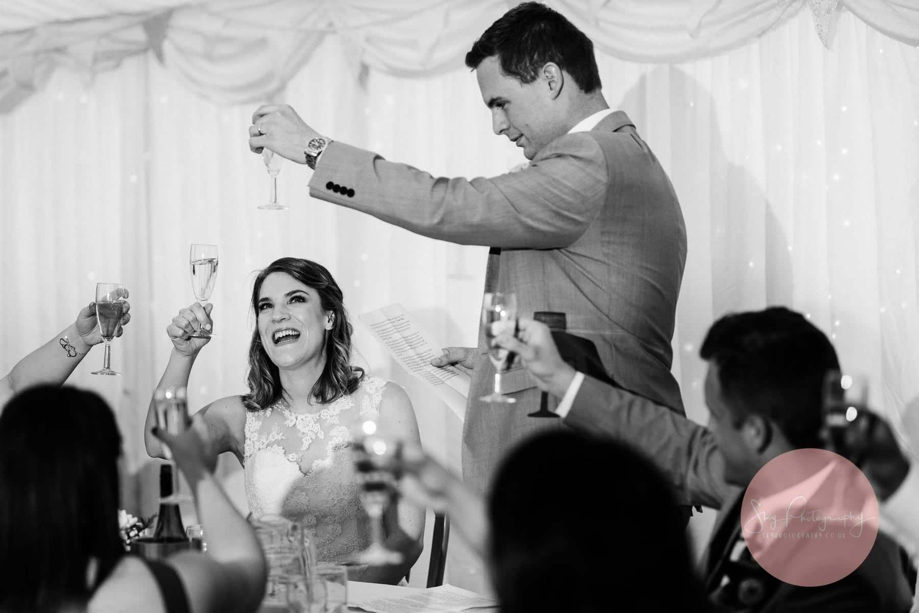 A toast to the beautiful Bride