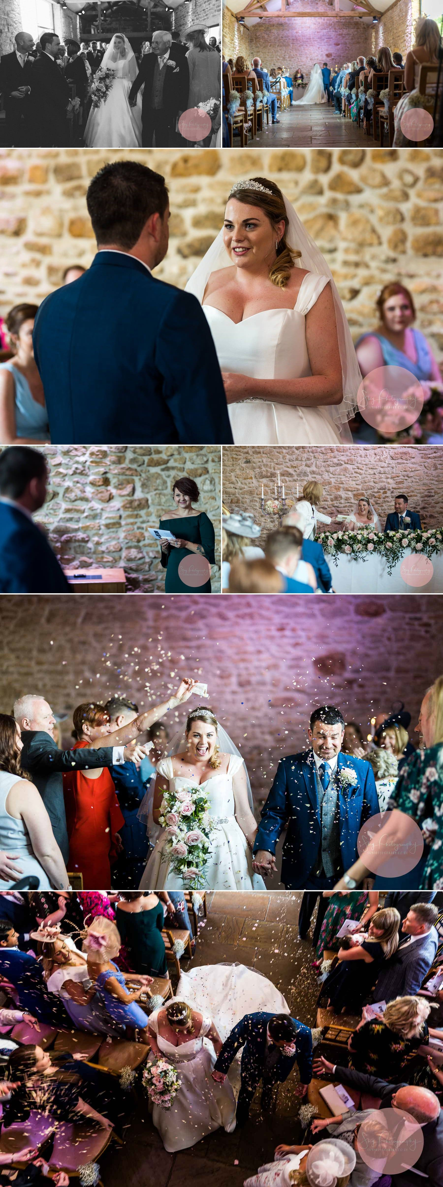 Dodford Manor Ceremony and Confetti Collage