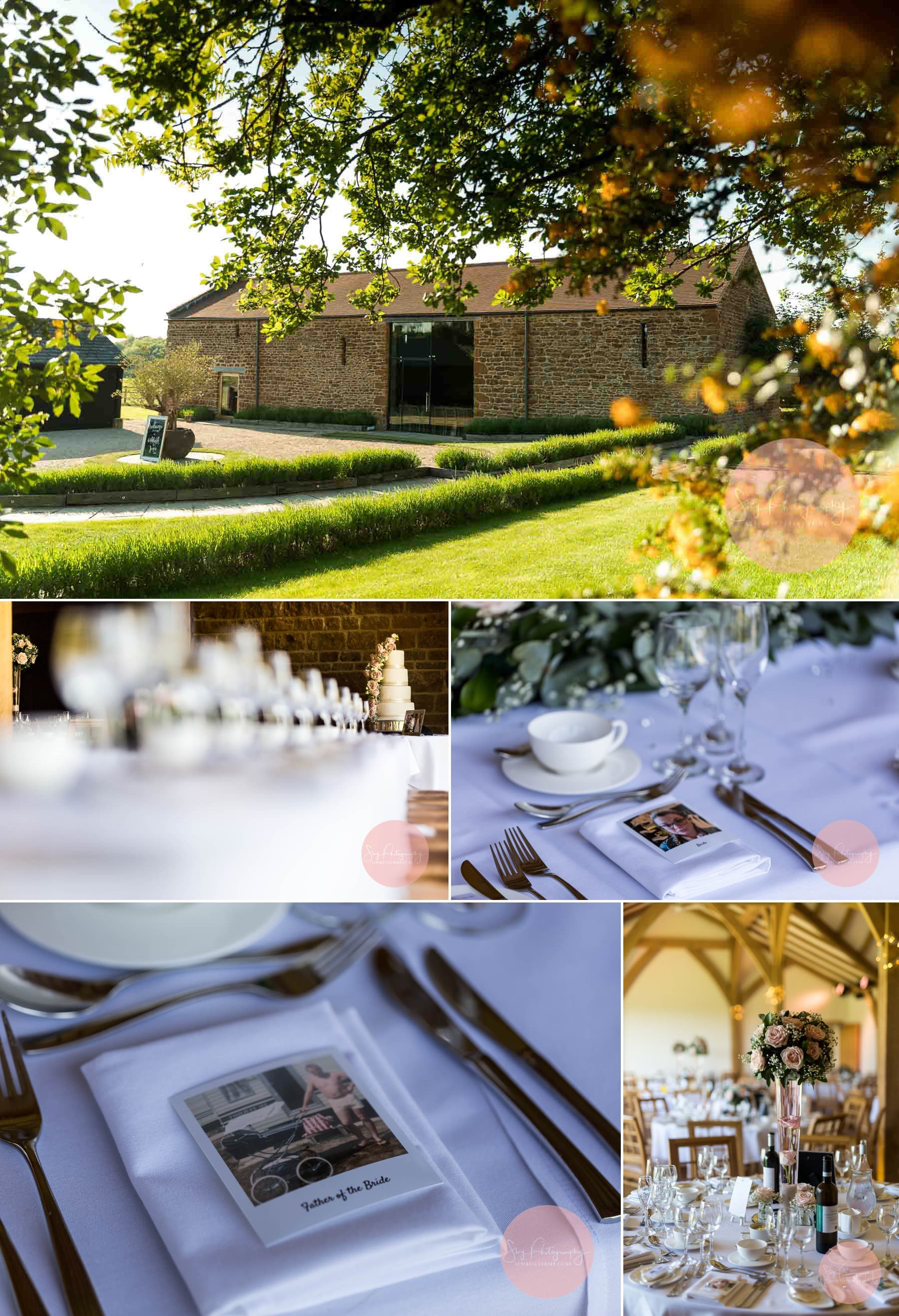 Dodford Manor wedding venue, best in Northamptonshire. Wedding Barns and detail photos