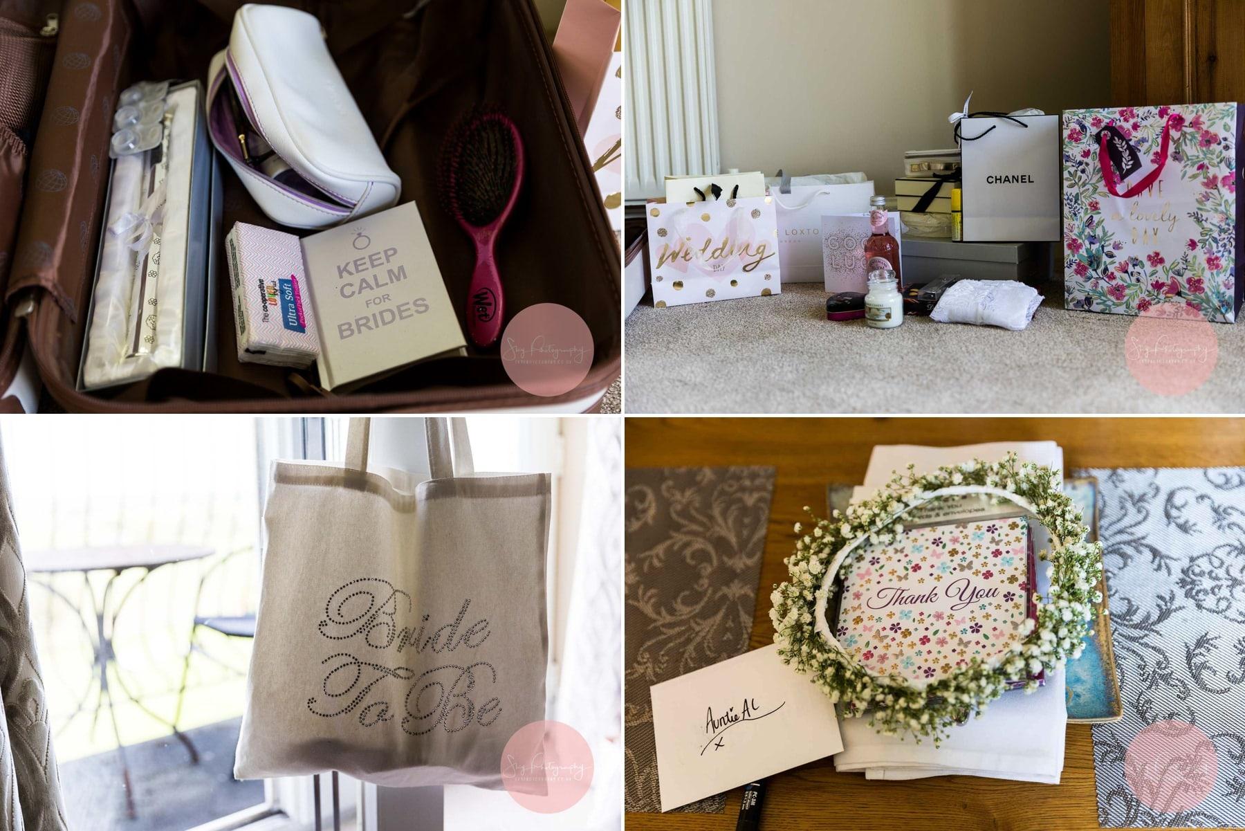 Brides accessories collage