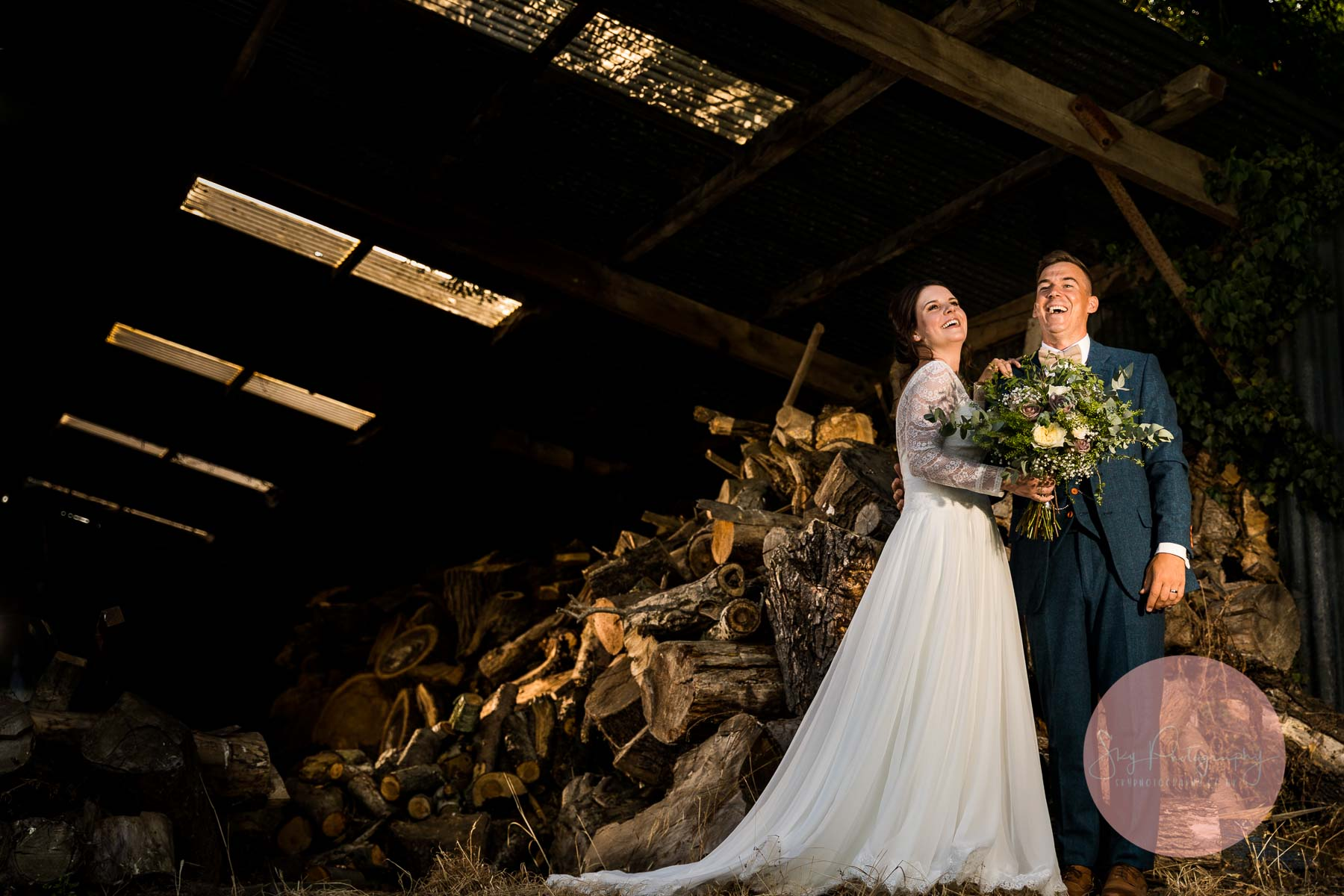 Wood store at bassmead barns wedding photography