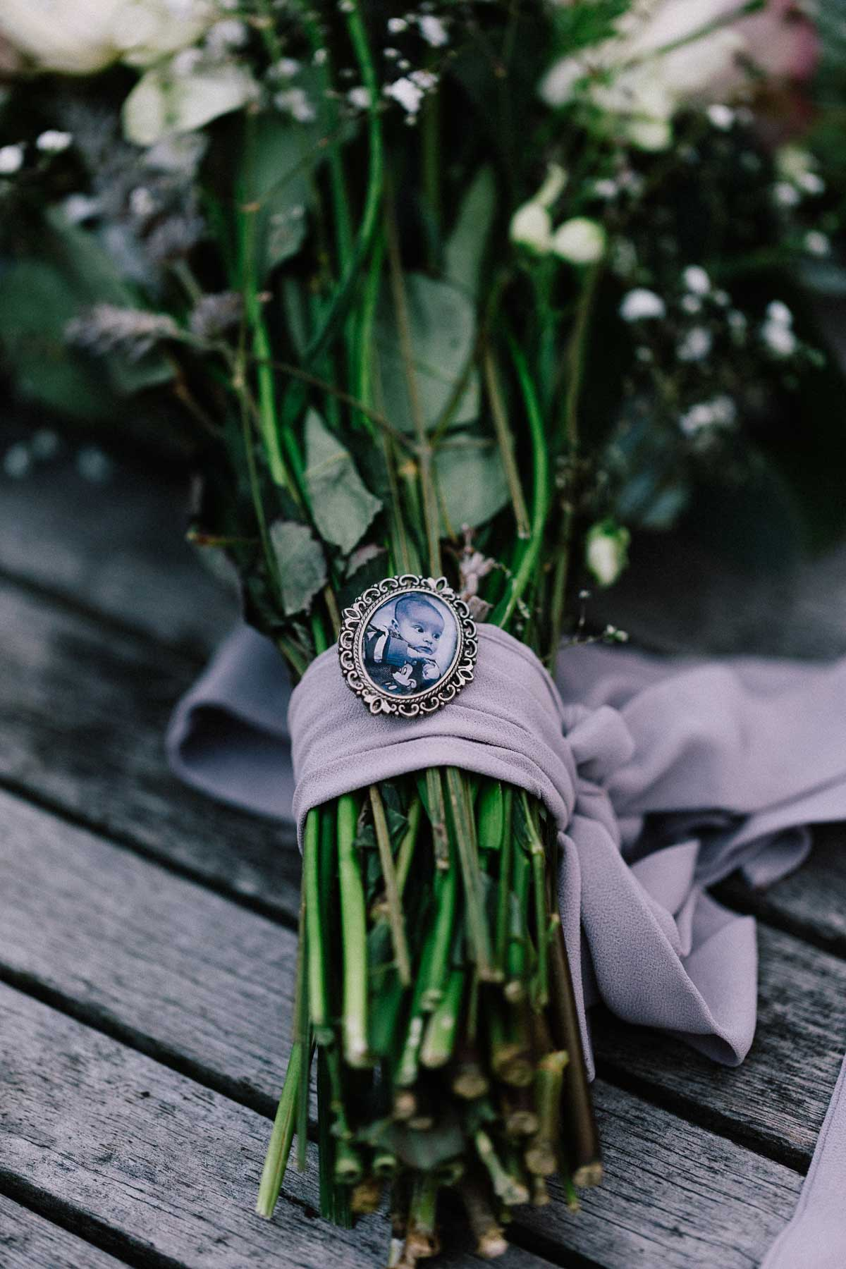 Wedding Bouquet with memory locket