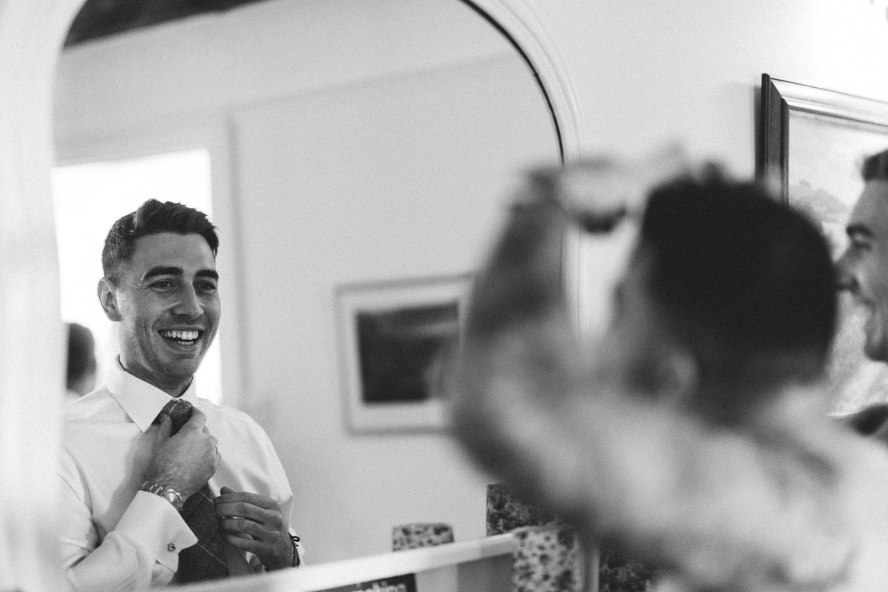 Groom preparations at the reid rooms