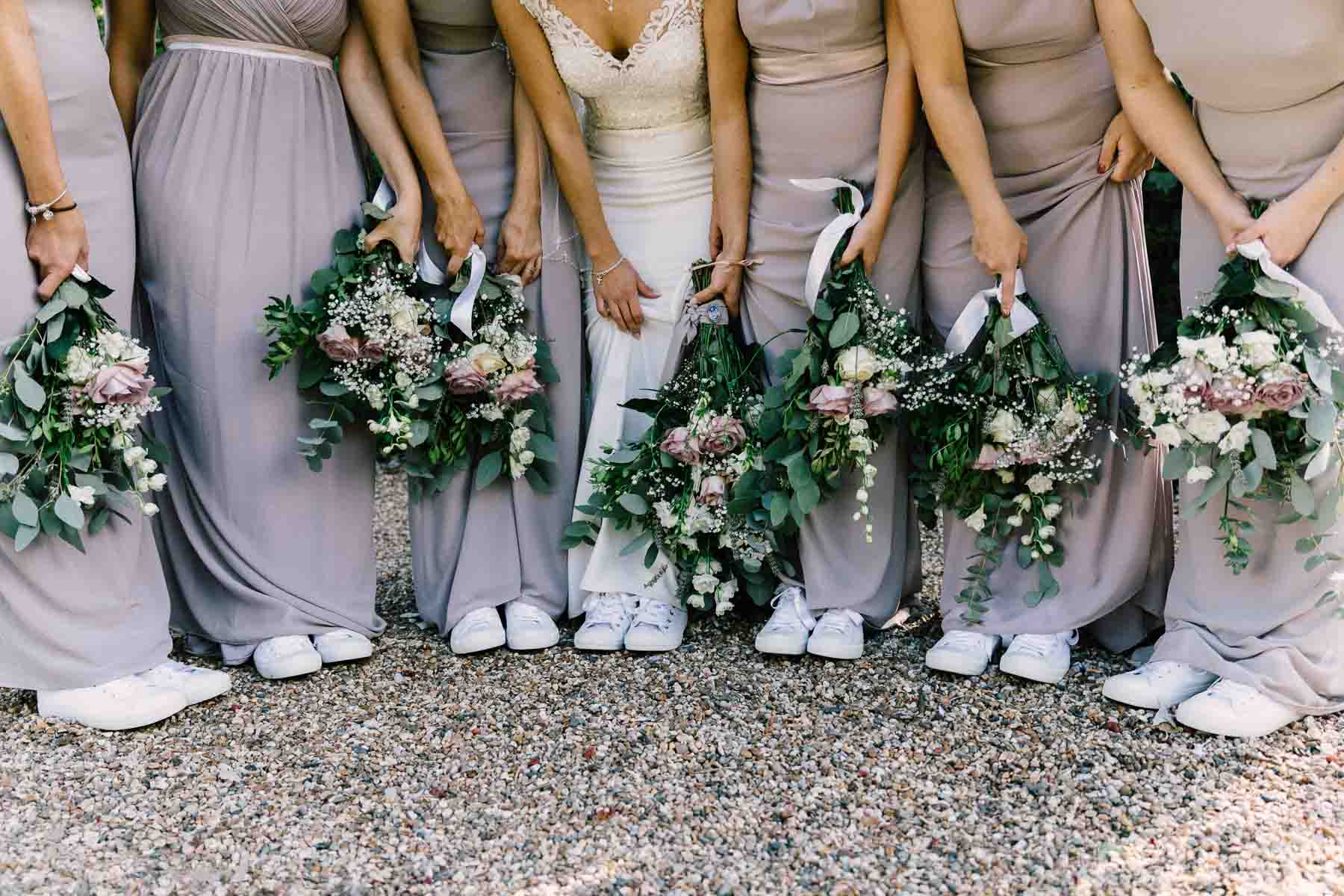 wedding flowers and converse shoes