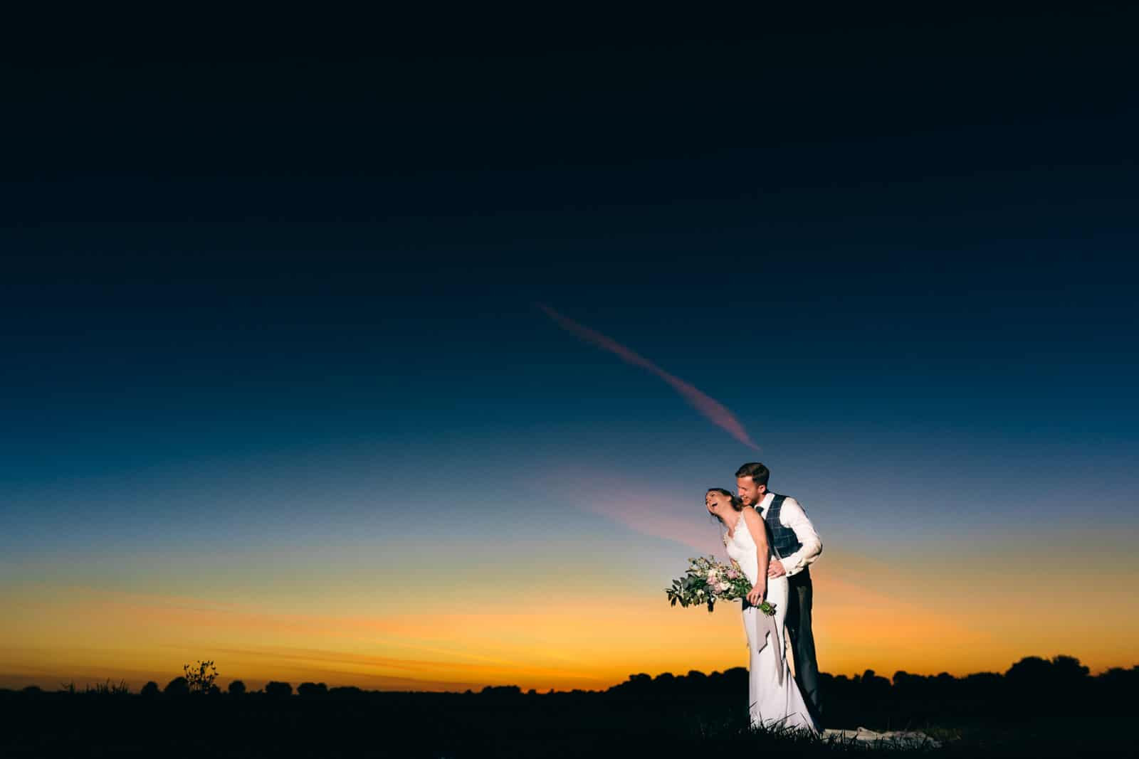 After sundown wedding photography at the Reid Rooms essex