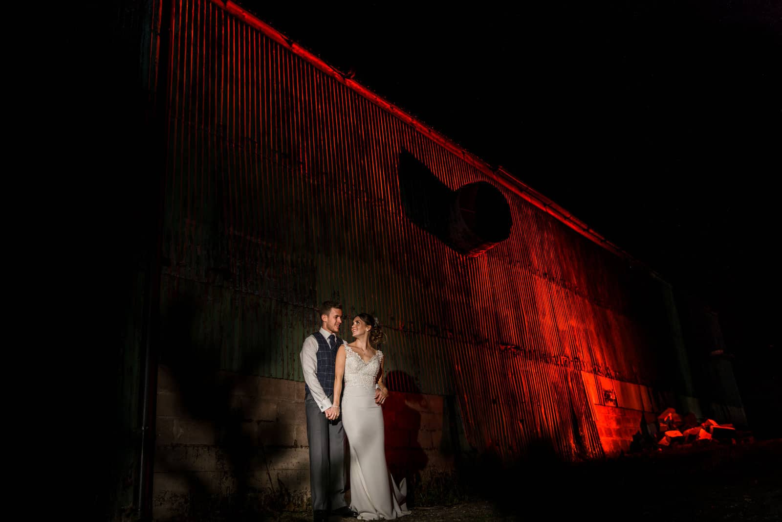 The Reidrooms wedding photography off camera flash of happy couple using magmod
