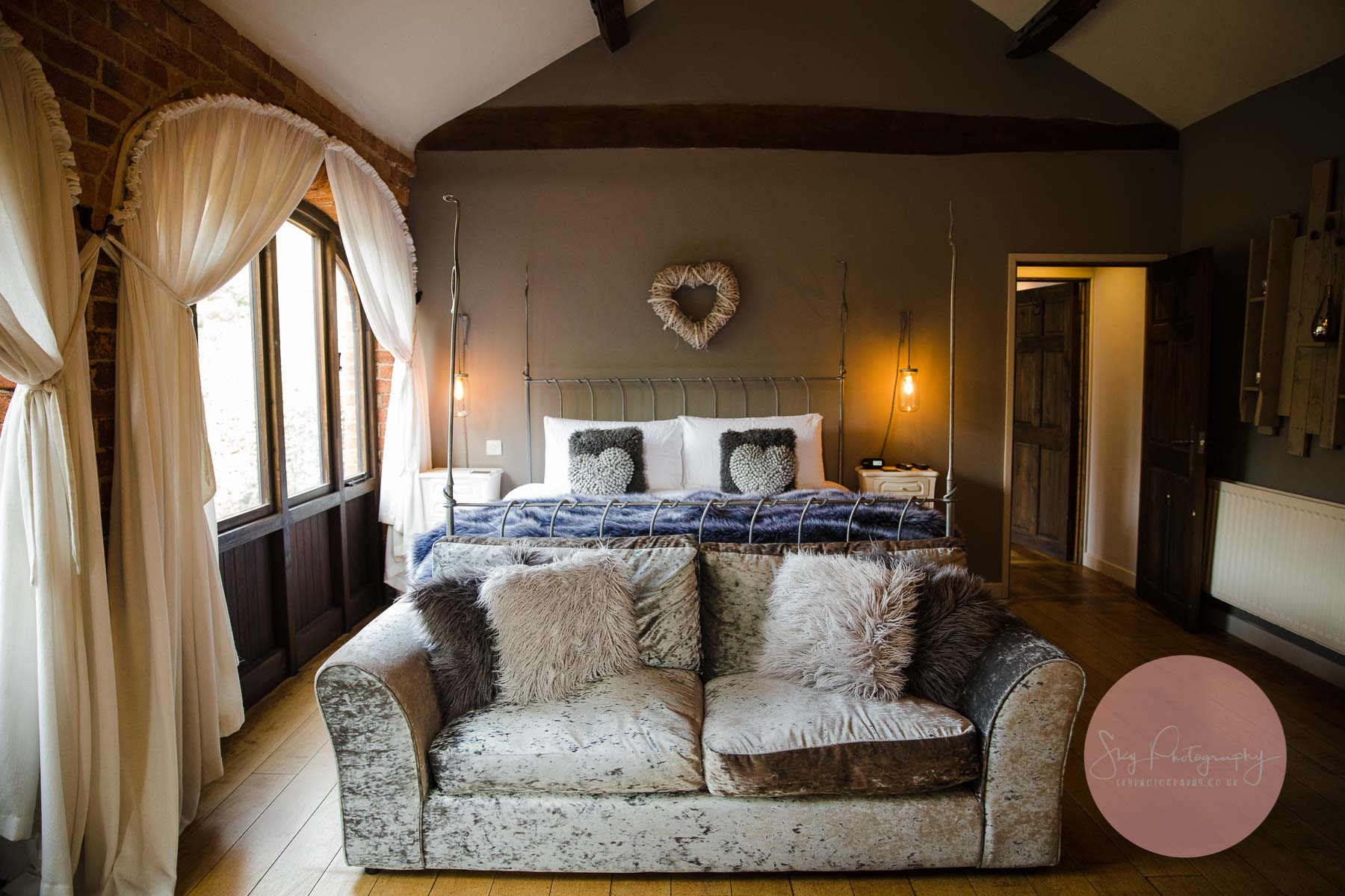 bed in the bridal suite