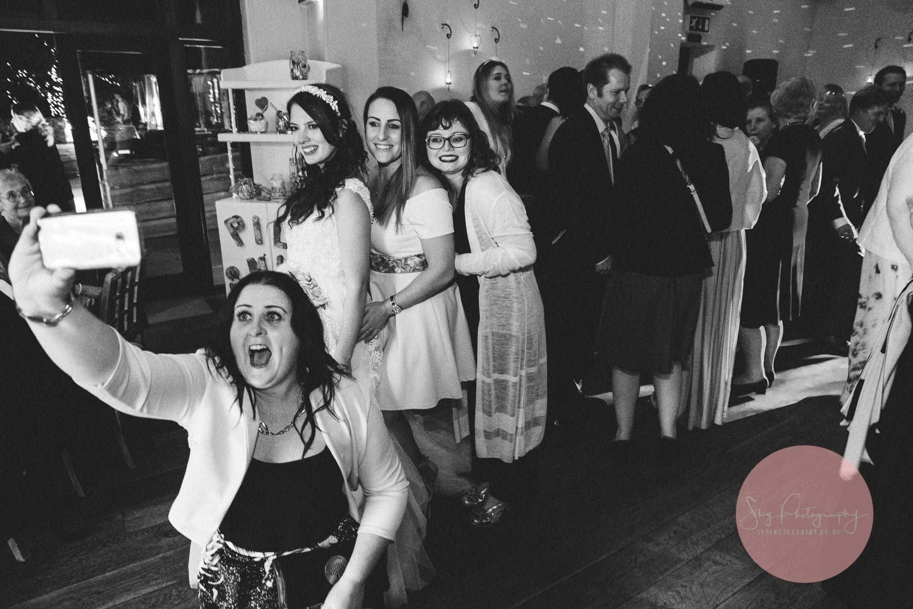 A panic selfie at a wedding