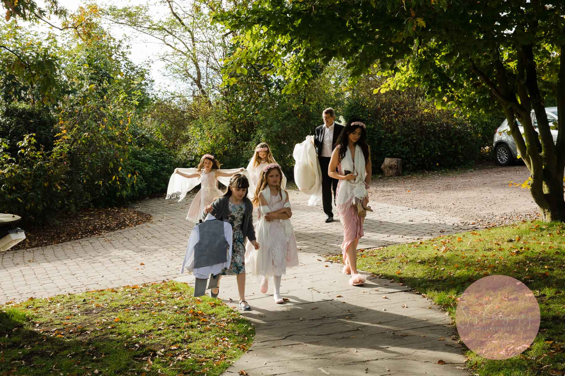 family arrive at dodmoor house