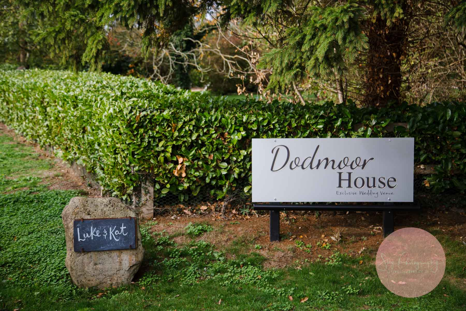 picture of Dodmoor house wedding venue entrance signs