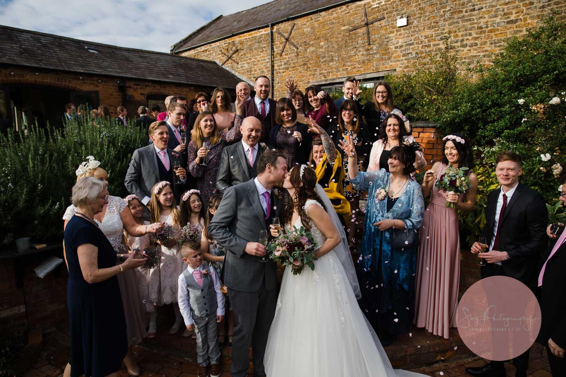 group confetti photo