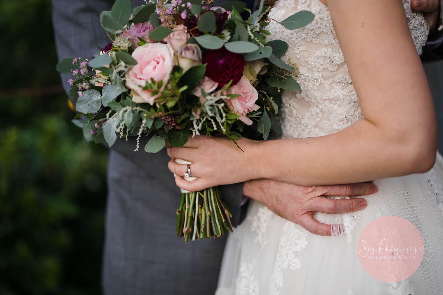 brides stunning bouquet