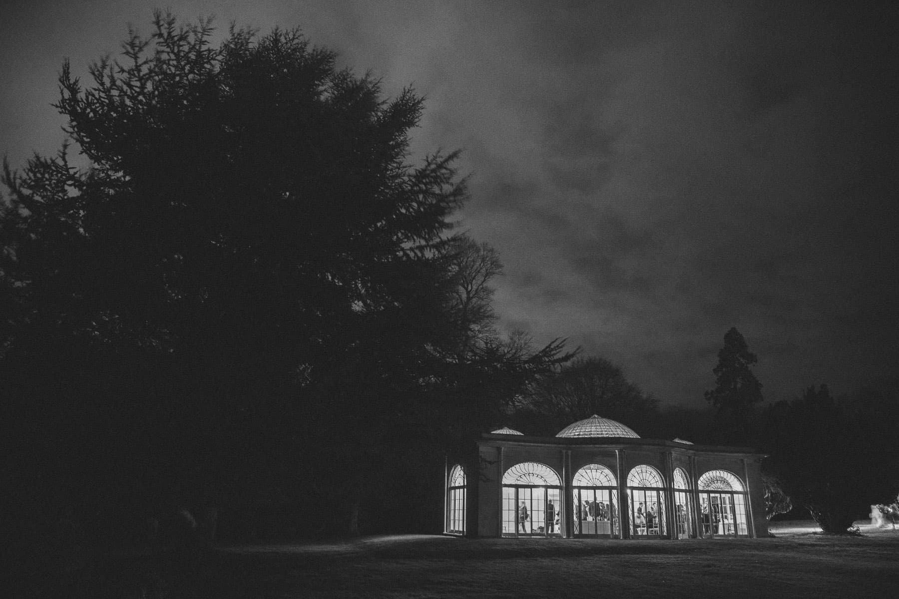 The Barton Hall Orangery at night