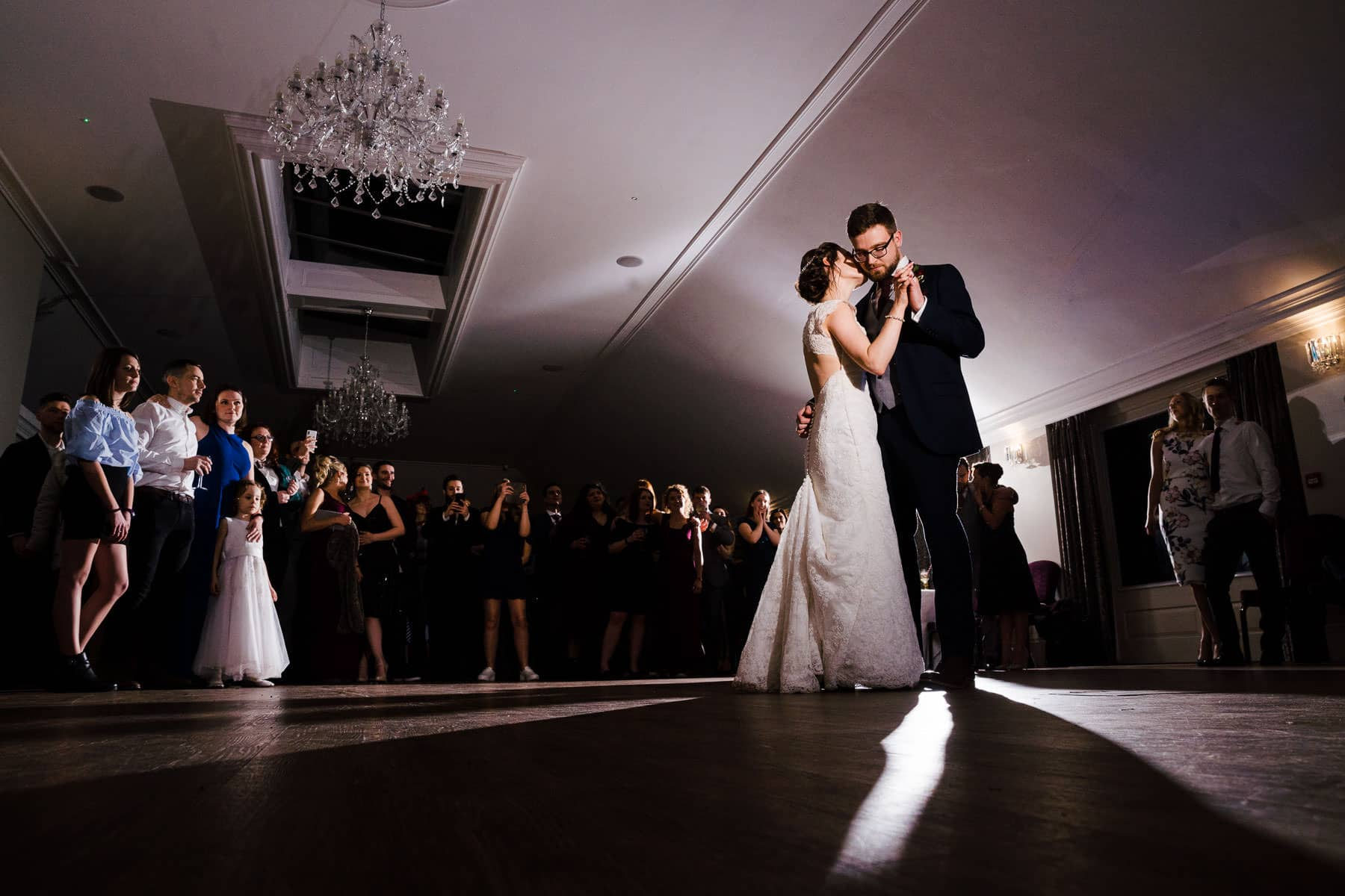 Gorgeous photo at Barton Hall of the first dance