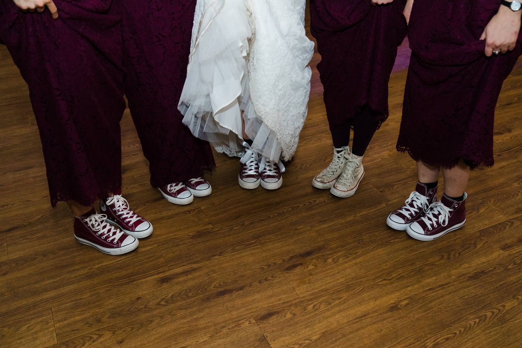 Bridesmaids converse shoes