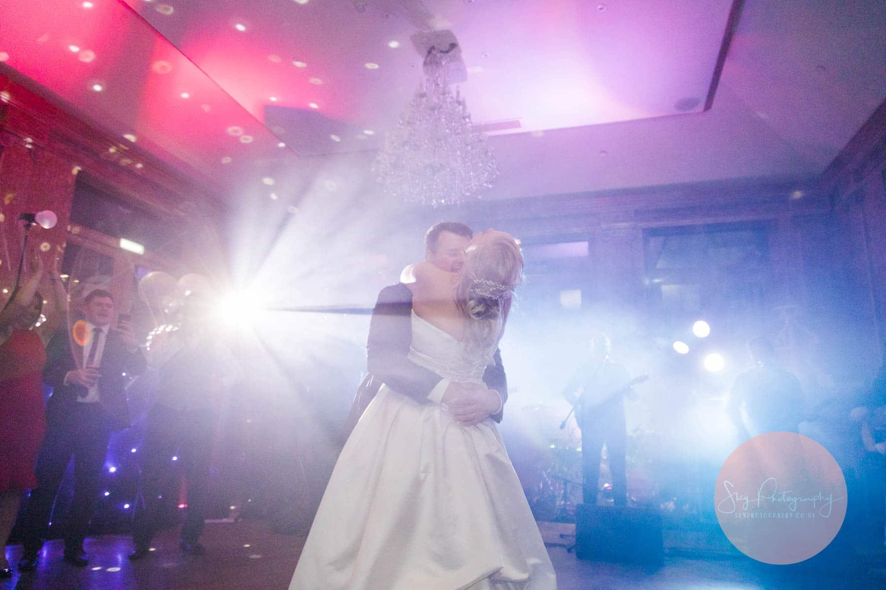 Beatiful first dance at knightley court Fawsley Hall Wedding