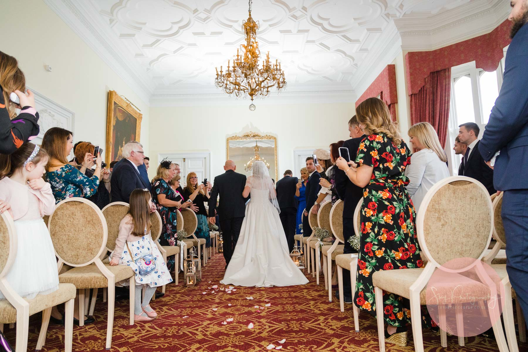 Wedding ceremony at Fawsley Hall
