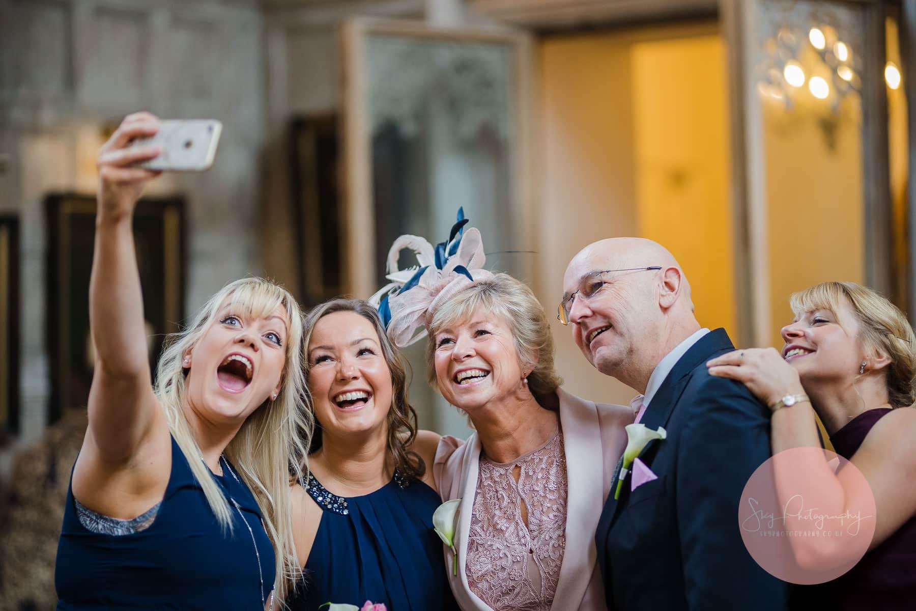 Funny wedding selfie