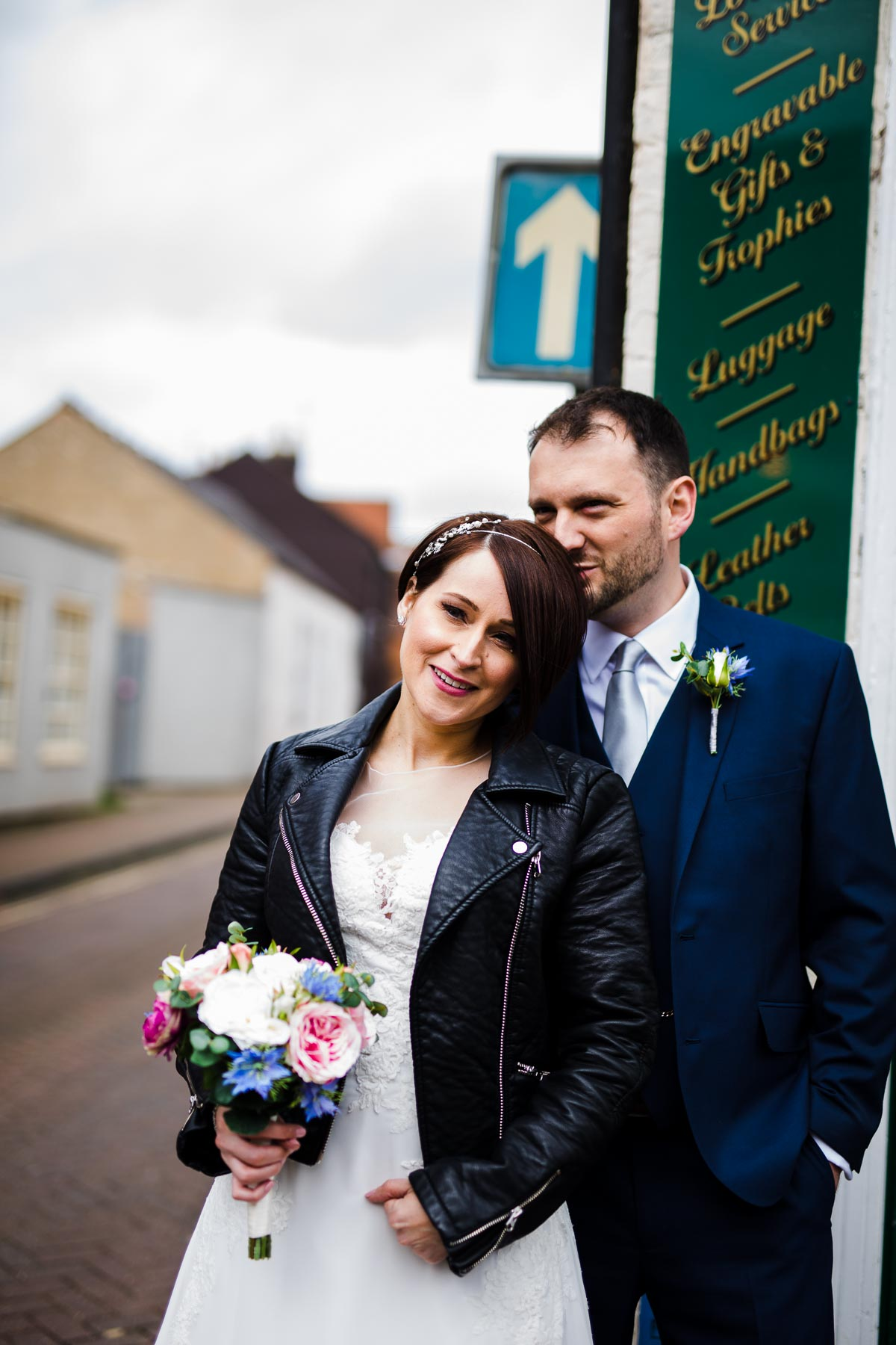 Street wedding photography in buckinghamshire