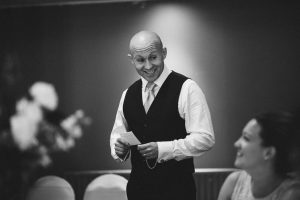 Brother of the bride making an emotional speech