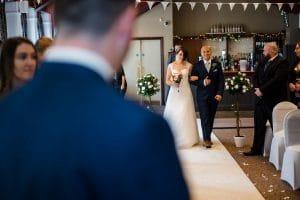 Buckinghamshire Wedding Photography Bride entering the ceremony