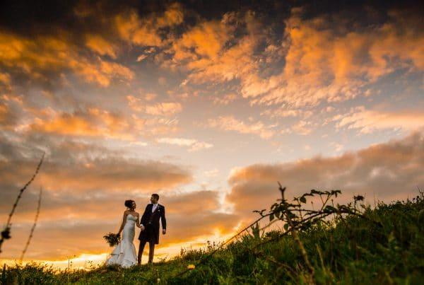 Beautiful sunset over Dodmoor House