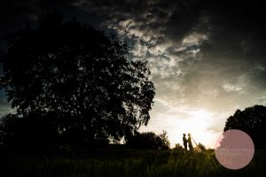 Silhouette photo at dodford manor wedding