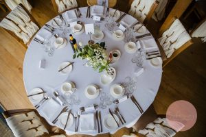 beautiful table decorations at dodford manor