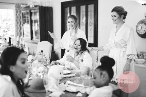Bridesmaids having fun at Dodford Grange