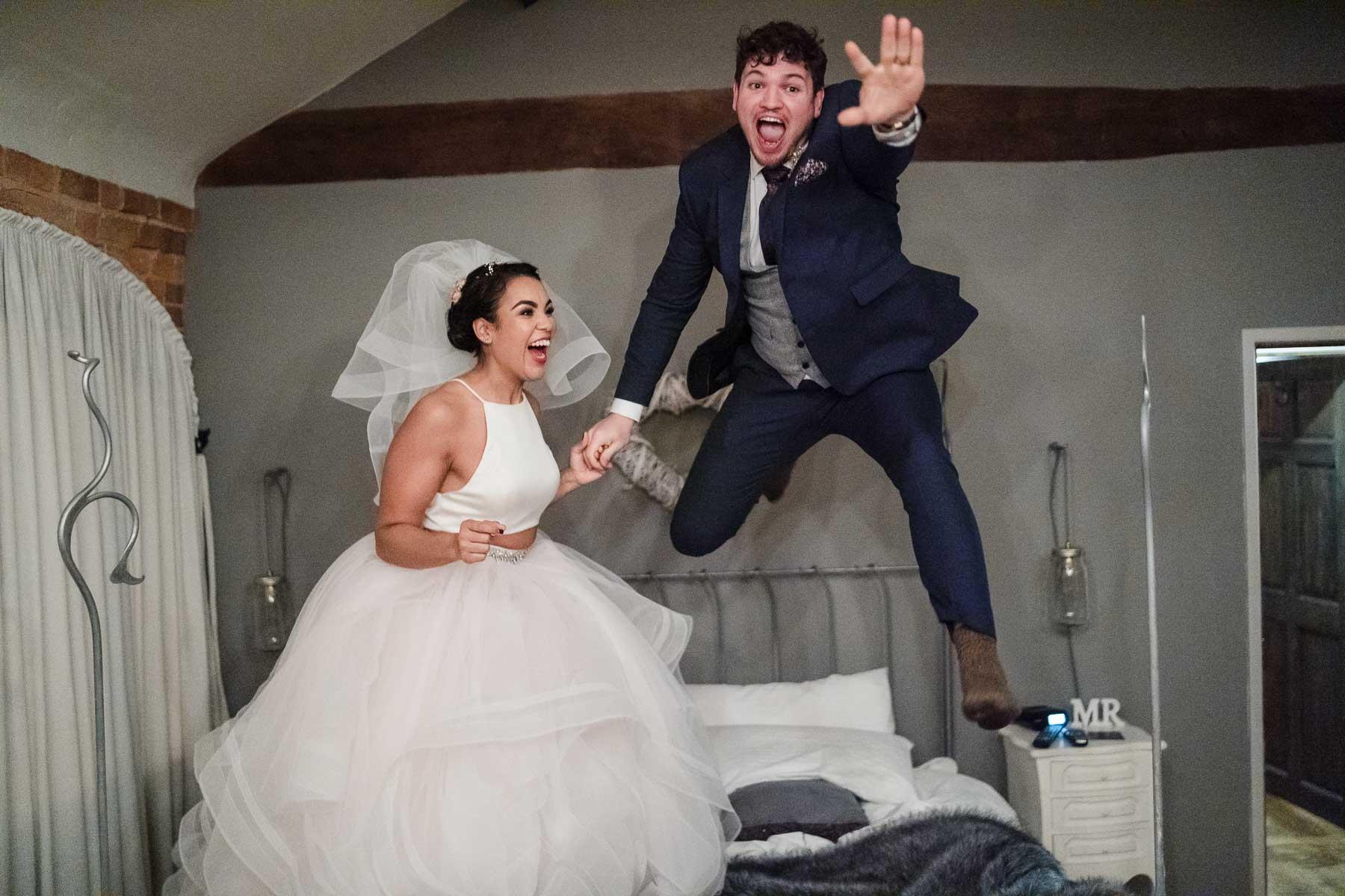 groom flying like superman