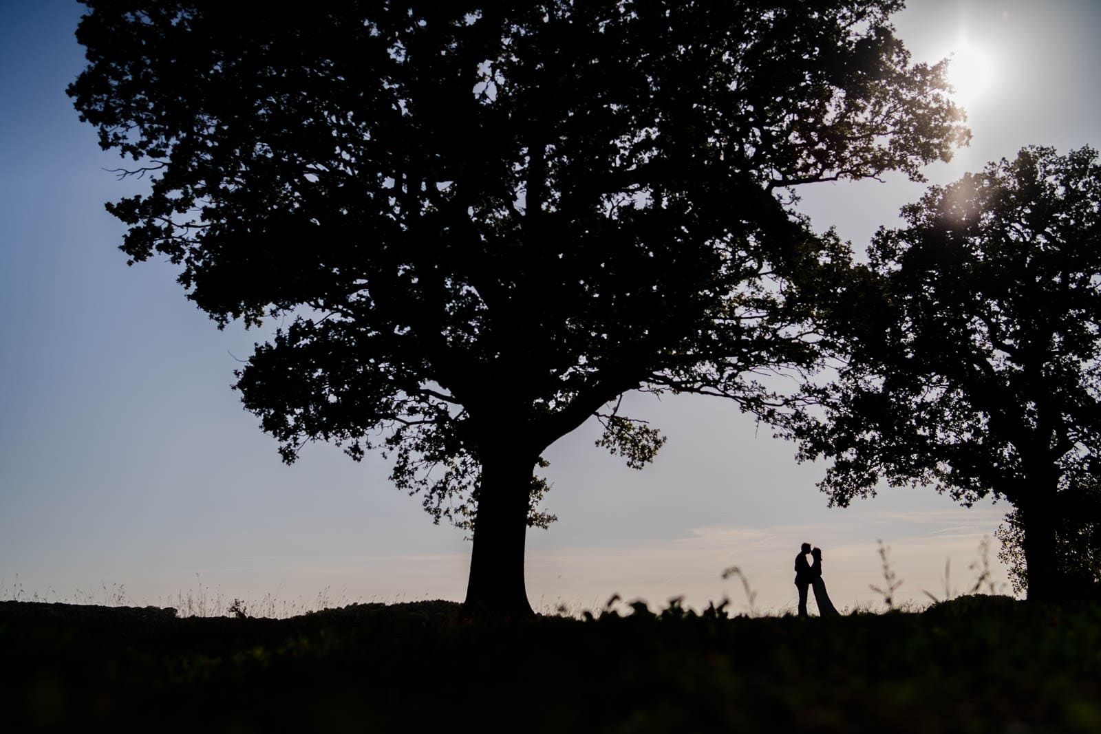 Stunning silhouette Wedding Photographer Warwickshire