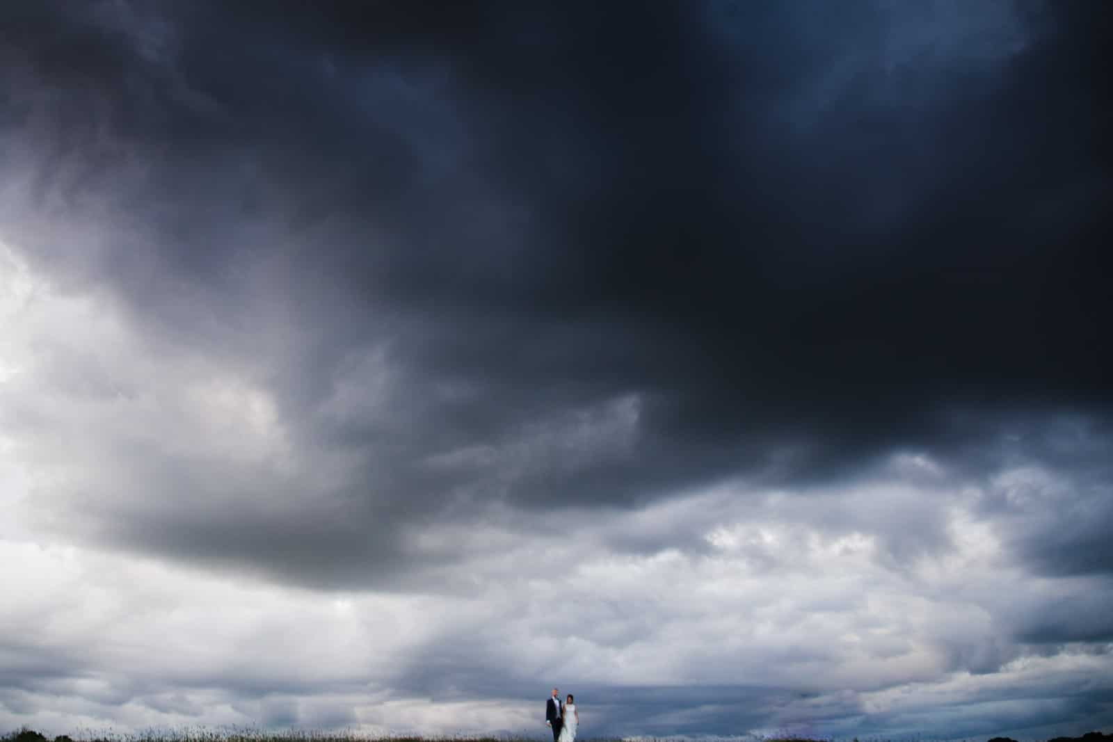 Big moody skies Wedding Photographer Rutland