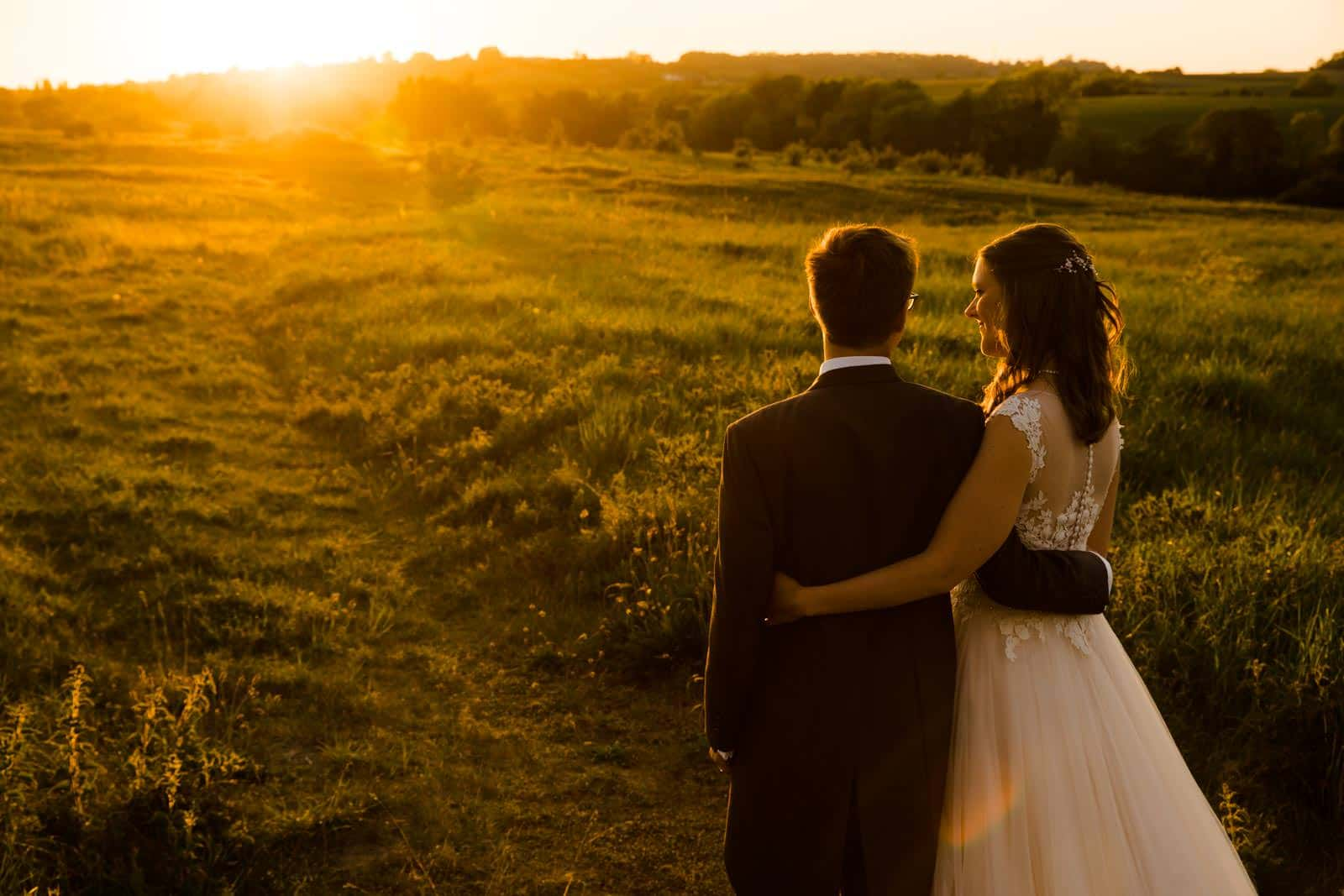 Stunning golden hour photo of the couple Wedding Photographer Buckinghamshire