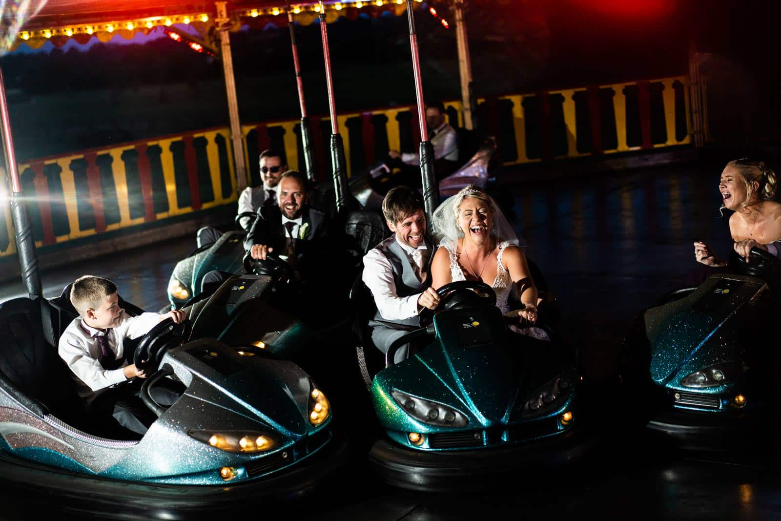 Crockwell Farm Wedding with dodgems