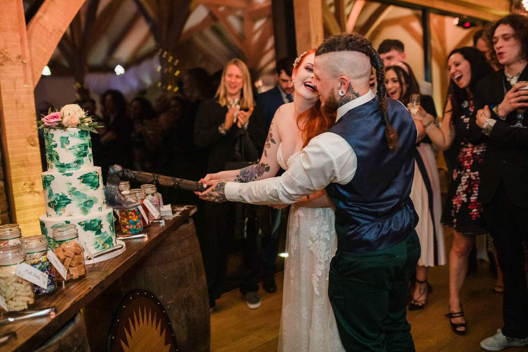 Nordic cutting the cake