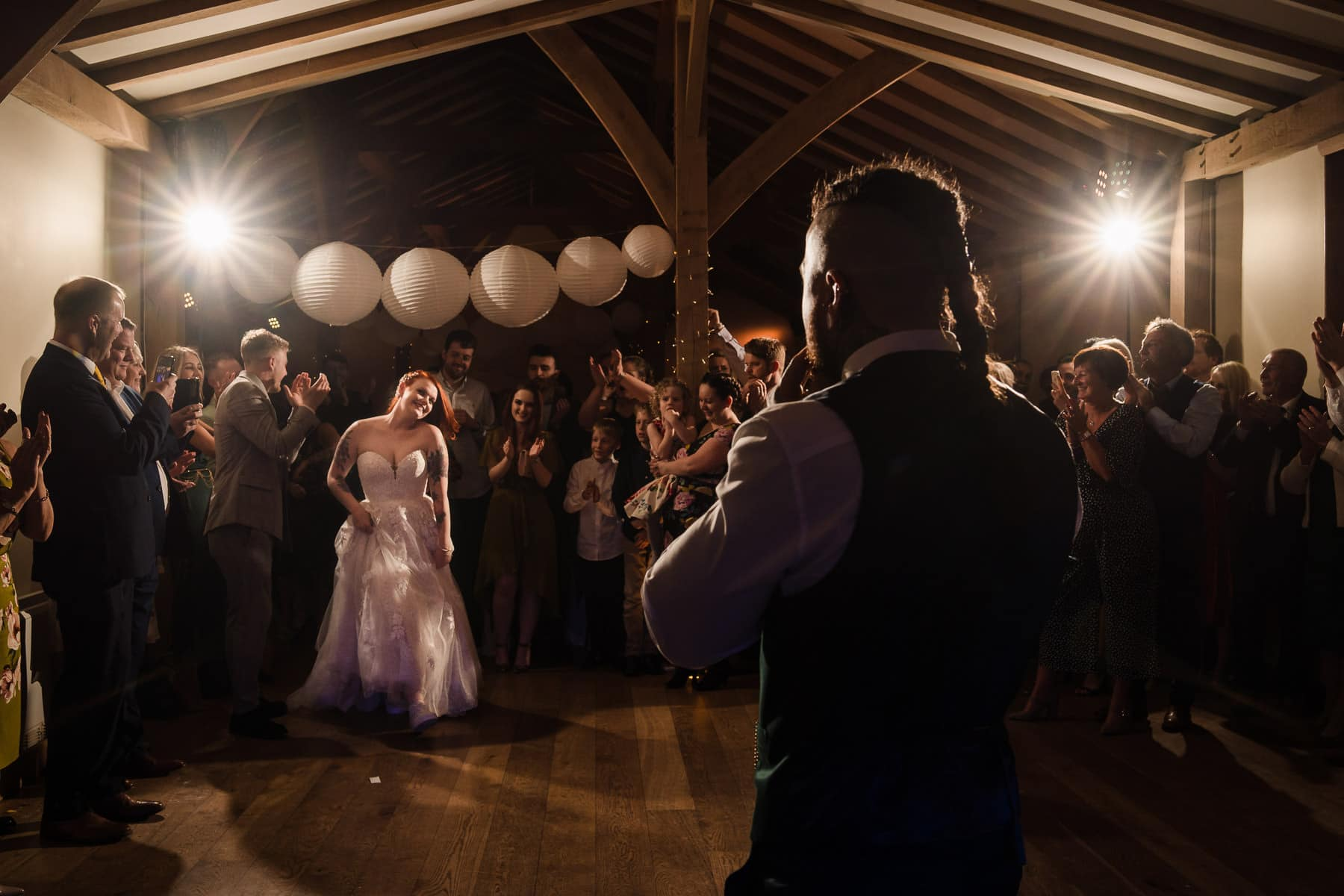 Mark Tolliss at Dodford Manor, announcing the bride on to the dance floor