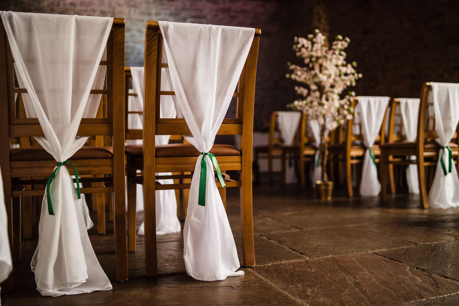 white sashes and green ties wedding inspiration