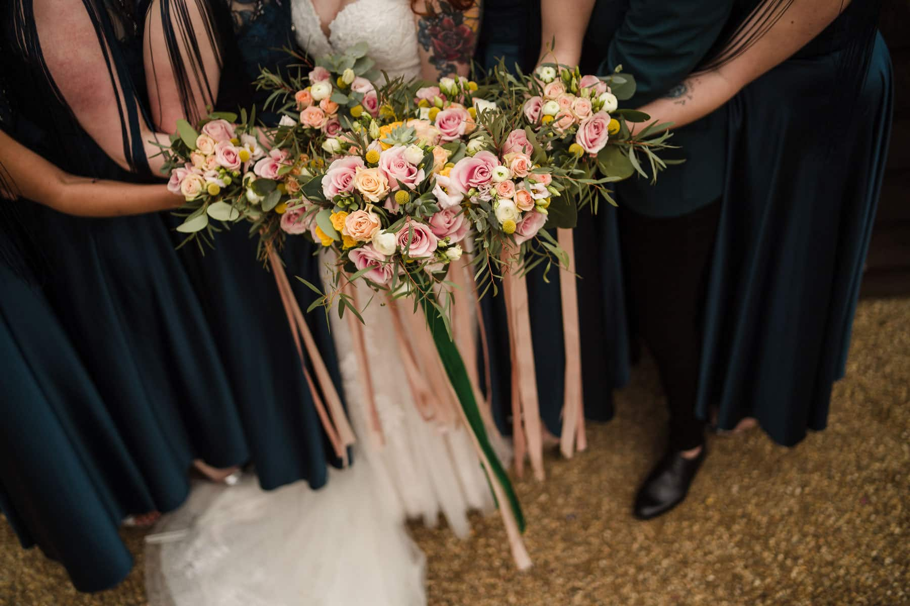 Green and pink wedding ideas