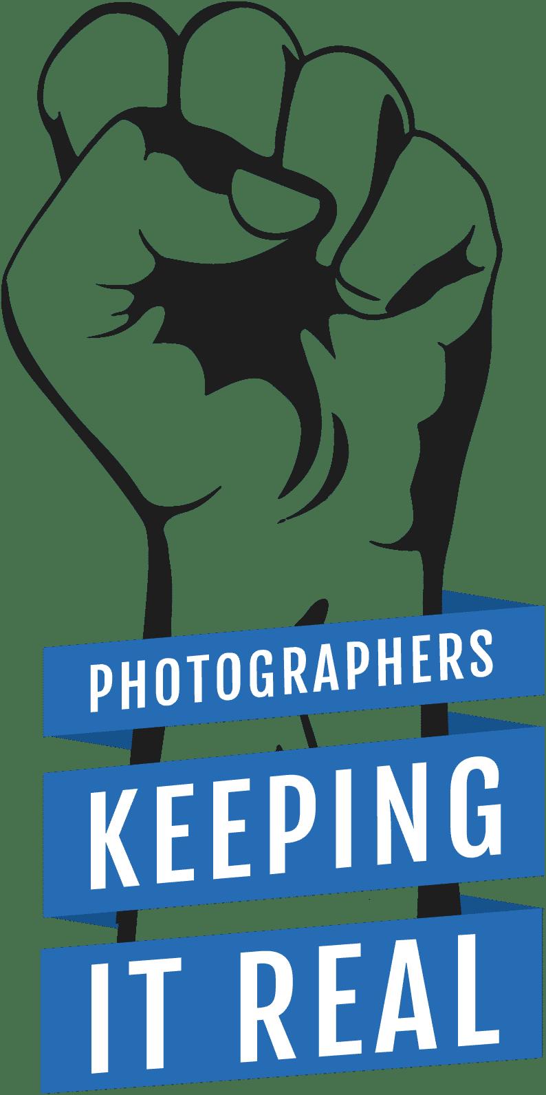 Photographers Keeping it real Wedding awards logo