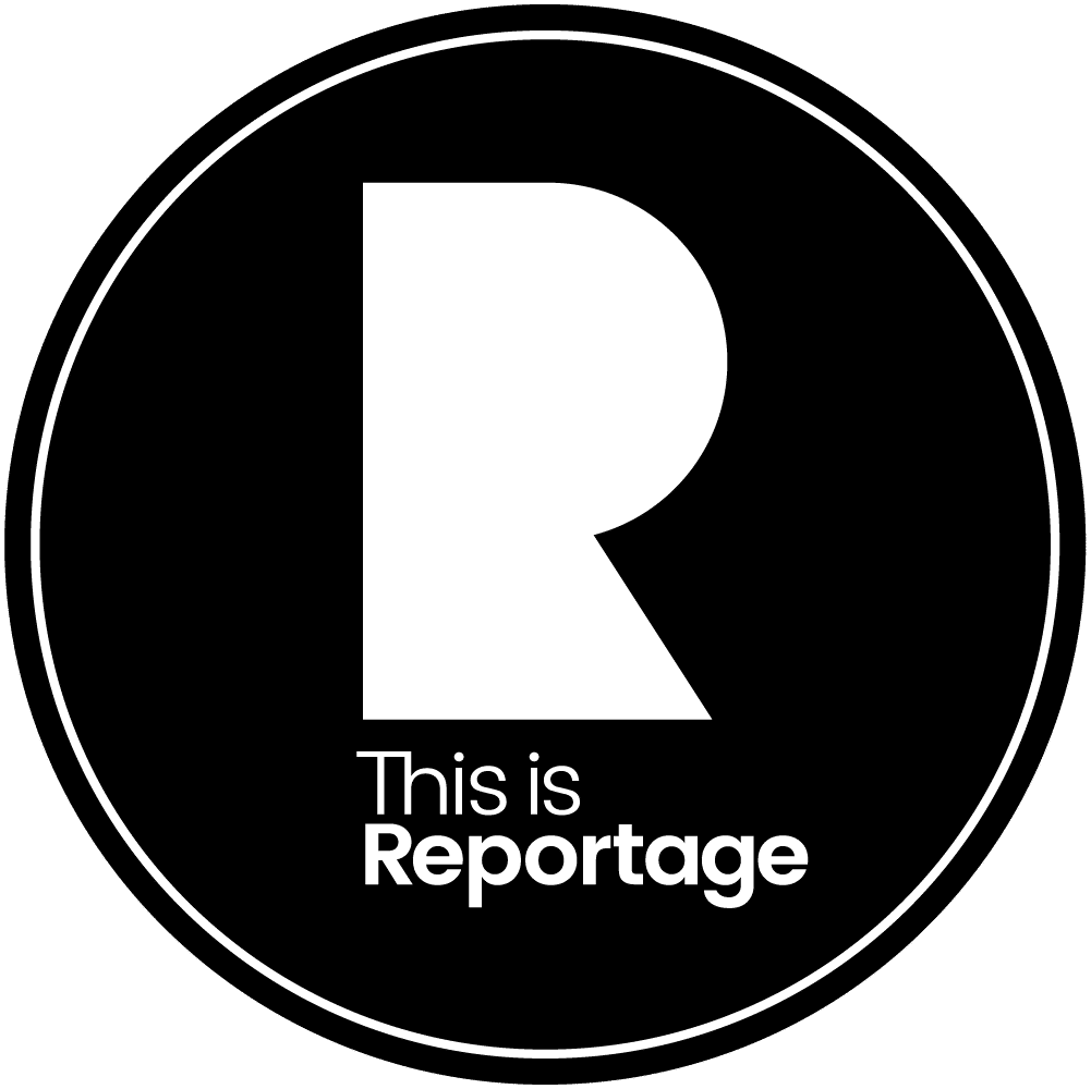 This is Reportage member logo